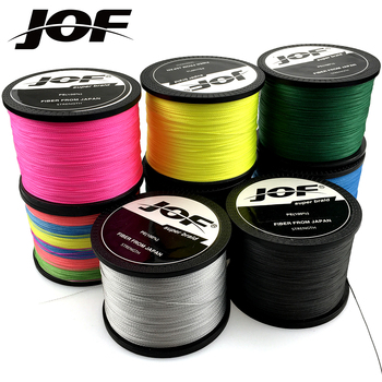 JOF Fishing Line 1000M 500M 300M 100M 8 Strands 4 Strands PE Braided Multifilament Saltwater Line meredith 4 strands braided pe fishing line 300m 500m 1000m 15 80lb multifilament smooth fishing line for fishing lure bait
