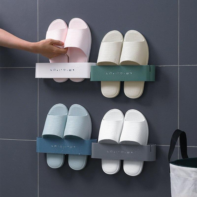 Ev ve Bahçe'ten Ev Ofis Depolama'de Kuzey avrupa duş odası terlik çerçeve asılı tip önlemek yumruk üç boyutlu ayakkabı rafı tuvalet tuvalet muhtasar ayakkabı title=