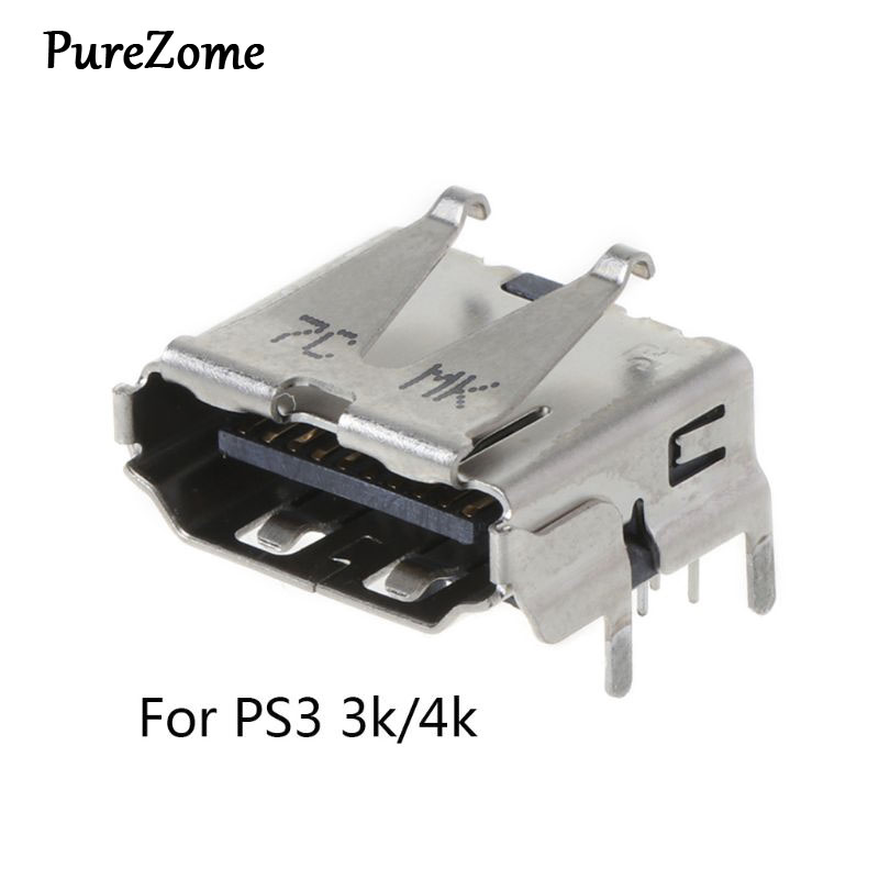For Playstation 3 PS3 HD <font><b>PS</b></font> 3 Super Slim 3000 4000 3K 4K <font><b>HDMI</b></font> Port Jack Socket Interface Connector Replacement image