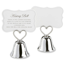 Bell Place-Card-Holder/photo-Holder Wedding-Table-Decoration-Favors Silver 20pcs--Kissing-Bell