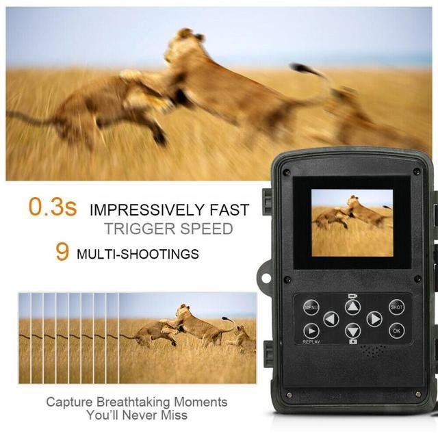 16MP 32GB/64GB Trail Camera IP65 Photo Traps 0.3s Trigger Time 940nm Wild Camera 1080P Waterproof  Hunting Camera 2