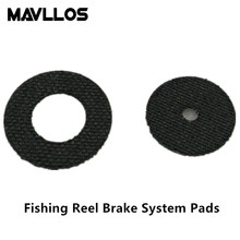Mavllos High Carbon Fiber Brake System Pads For Fishing Reel Baitcasting Spinning Reels Suit For Daiwa Abu DIY Fishing Accessory(China)