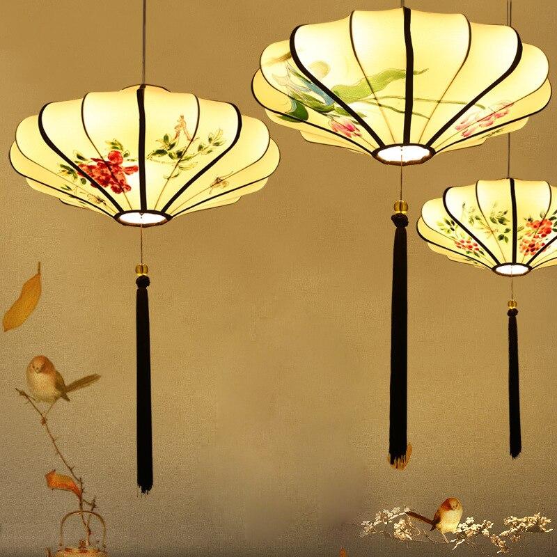 Подвесная люстра, светодиодный светильник в китайском ретро стиле