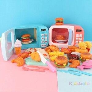 Image 5 - Kid S Keuken Speelgoed Simulatie Magnetron Educatief Speelgoed Mini Keuken Voedsel Pretend Play Snijden Rollenspel Meisjes Speelgoed