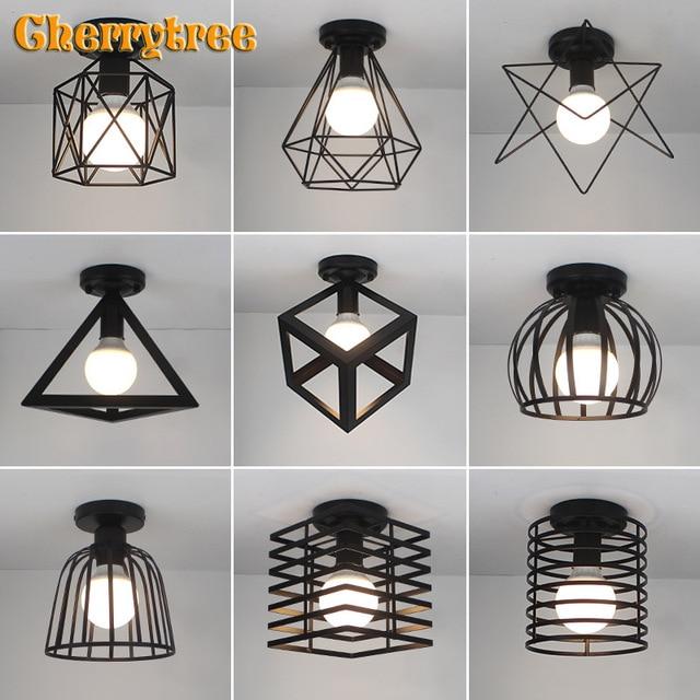 シーリングライト現代の天井ランプメタルロフト装飾ランプ工業用スタイル家庭の照明の寝室キッチンリビングルーム照明器具