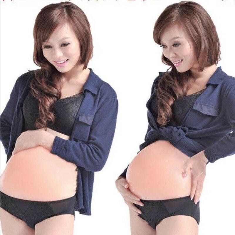 Silicone Artificial Baby Tummy Fake Pregnancy Belly Pregnant Bump Prop 3 Size