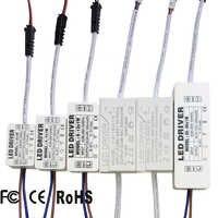 Controlador de LED 300mA 1W 3W 5W 7W 12W 18W 20W 25W 36W para LED Unidad de fuente de alimentación AC85-265V transformadores de iluminación para luces LED