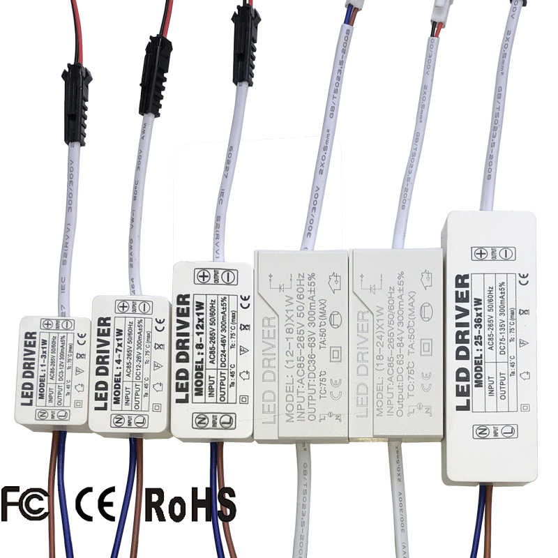 LED Driver 300mA 1W 3W 5W 7W 12W 18W 20W 25W 36W Voor LEDs Voeding Unit AC85-265V Verlichting Transformers Voor LED Power Lights