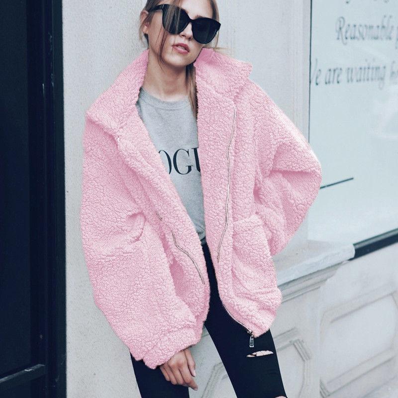 Hf2d4f3fda7604cc08a4090f86e7b5cb7M Autumn Winter Faux Fur Coat Women 2020 Casual Warm Soft Zipper Fur Jacket Plush Overcoat Pocket Plus Size Teddy Coat Female XXXL