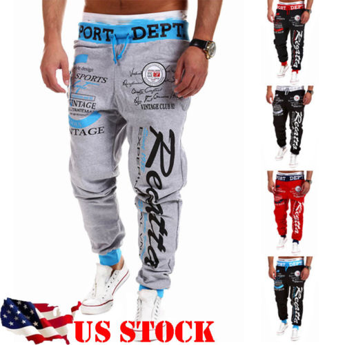 Mens Hot Jogger Dance Sportwear Baggy Harem Pants Slacks Trousers Sweatpants Plus Size 2019 New
