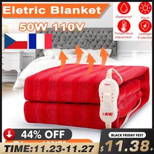 Electric Blanket Heater Warmer Double-Body 150x130cm Home 110V/220V