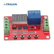 DC5V 12V 24V DVB01 цифровой Компаратор напряжения вольтметр микроконтроллер напряжения зарядки/разрядный монитор-контроллер задержки 0-99,9
