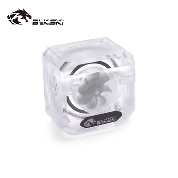 Bykski Acrylic Flow Meter G1/4 Thread Water Cooling System Coolant Filter Indicat Computer Cooler Fittings 3-Way holes B-FMpa-X g1 4 thread water cooling tank 50mm x 140mm acrylic cylinder reservoir tank for pc computer liquid cooling with l shape buckle