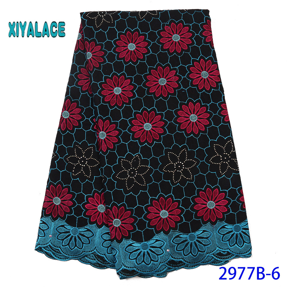 African Lace Fabric Hot Sale Swiss Voile Lace Fabric High Quality 2019 Nigerian Tulle French Lace For Wedding  YA2977B-6