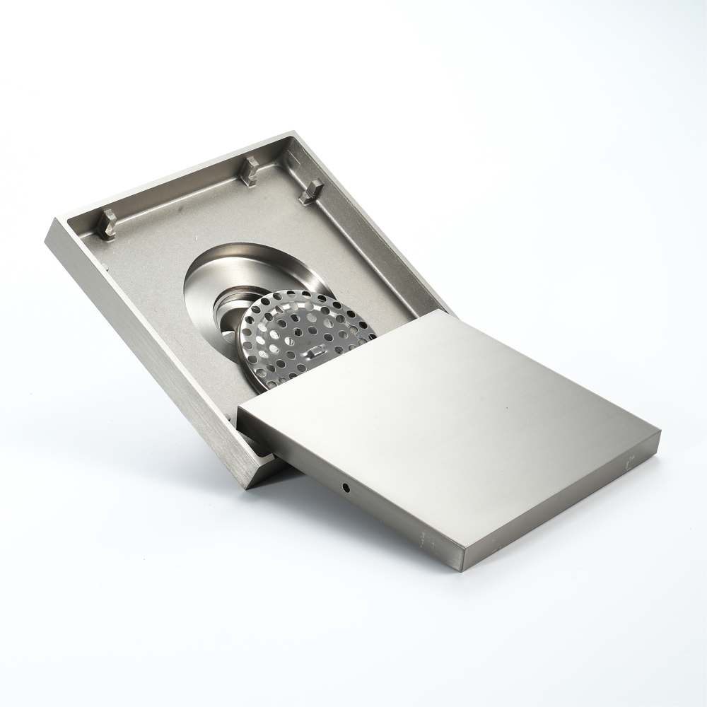 15*15cm brosse Nickel laiton bouchon pour évier bain crépine sol Drain douche Drain Siphon Anti odeur salle de bain toilette cuisine balcon - 5