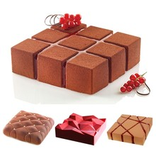 Large Size Irregular Geometric Shape Silicone Mold Practical Cake Tool Creative Baking Mold Cake Decoration Tool DIY 3d Mold