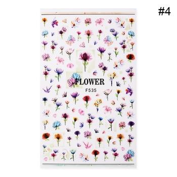 Flower Series Nail Water Decal Stickers Sakura Daisy Lavender Floral Pattern Transfer Sticker  Nail Art Decoration 15
