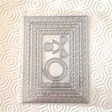 Kokorosa Inside Scalloped Rectangle Arts Dies Metal Cutting Die Scrapbooking 2019 New Crafts DIY Album Card Decor