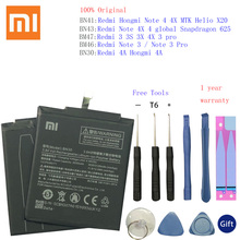 BN30 BN41 BN43 BM46 BM47 Xiaomi Redmi Hongmi 4A 3S 3X 3 pro Note 3 4 4X MTK Helio X20 글로벌 Snapdragon 625 Bateria