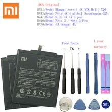 BN30 BN41 BN43 BM46 BM47 батарея для Xiaomi Redmi Hongmi 4A 3S 3X 3 pro Note 3 4 4X MTK Helio X20 Глобальный Snapdragon 625 акумуляторная батарея