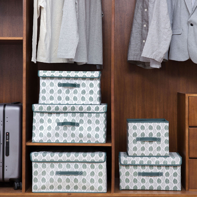 Foldable Storage Containers With Handle Convenient Storage Toy Organizer for Home Office Organizer Bedroom Storage Containers