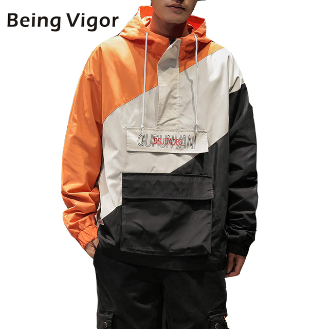 Mens Anorak Jackets Men Hip Hop Outwear Spring Sport Windbreaker Casual Outdoor men Autumn Fall Coat Streetwear Top 5XL