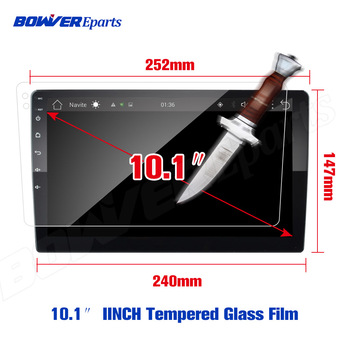 9 10.1 INCH Tempered Glass Protective Film For TEYES CC2 CC2L Spro 2 DIN GPS Car Radio Multimedia Player Navigation Android 8.1 image