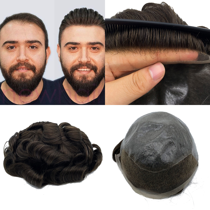 100% human hair base size 8x10 inchs lace front men's toupee wholesale indian remy human hair toupee