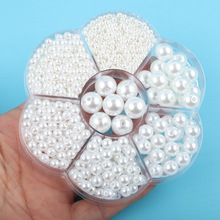 3 To 12mm Round Perforated Imitation Pearl White Acrylic Bead DIY Beading Accessories Diy Bag Accessories Diy Chain Beads