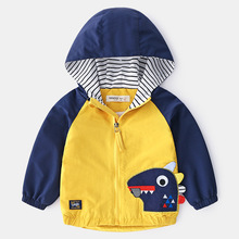 Dinosaur Hoodie Jacket for Boy 2019 New Spring Autumn Patchwork Childrens Baby Clothes Children Tops Outwear
