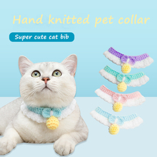 Kitten Collar Cat-Accessories Puppy Pet Japanese Cat Custom Cute Wool Soft Handmade
