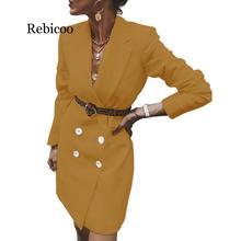 Echoine women's jacket Fashion wild long casual suit autumn winter female blazer tweed