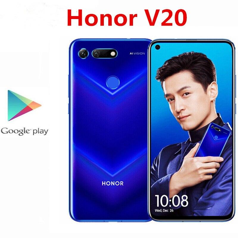 Глобальная версия Honor V20 Honor вид 20 PCT-L29 смарт-телефон Kirin 980 NFC 6 ГБ Оперативная память 128 Гб Встроенная память 48.0MP 4000 мА/ч, 6,4