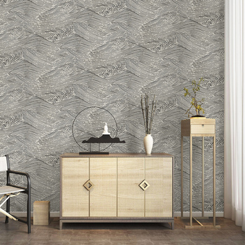 Chinese Wallpaper Abstract Waves Auspicious Clouds Nordic Luxury Living Room Bedroom TV Background Wall Paper Roll Home Decor grey silver textured wallpaper home decor modern abstract living room background brick stone concrete industrial wall paper roll