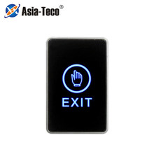 Botão de liberação botão de toque saída eixt porta com indicador led para proteção de segurança em casa para o sistema de controle acesso