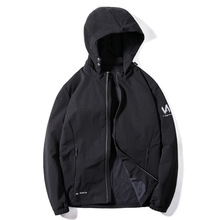 купить 8XL autumn men sport jacket zipper pocket zip up hooded hoodies sweatshirts outwear casual jogger running fitness workout jacket по цене 2276.34 рублей