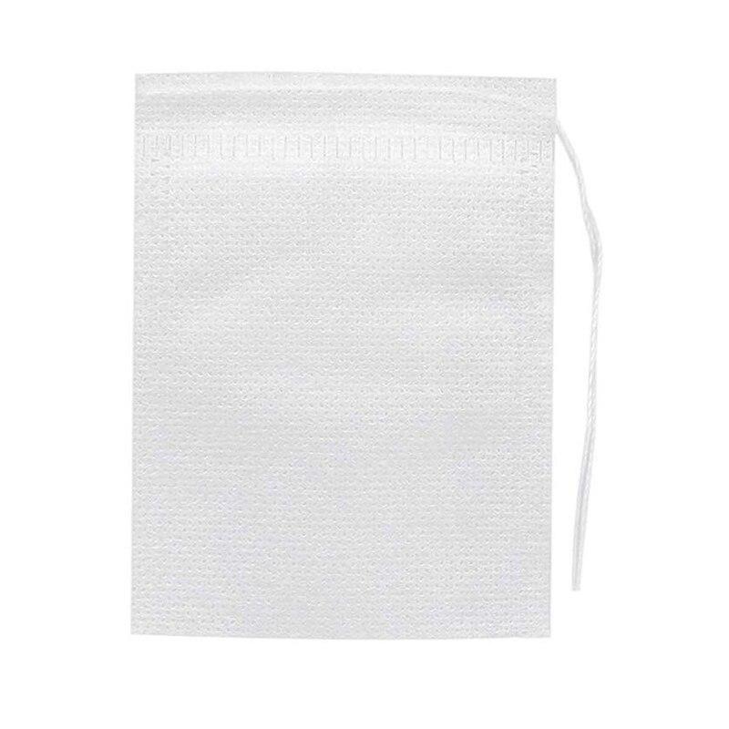 1000Pcs Disposable Tea Filter Bag for Bulk Empty Cotton Drawstring Sealed Tea Bags Tea Infusers     - title=