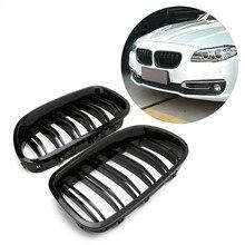 Gloss Black Rene Grill Da Corsa Griglia Doppia Linea Per BMW F10 F11 F18 5 Serie M5