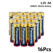 16pcs PANASONIC 1,5 V AA Batterie Alkaline Batterien Trocken Batterie LR6BCH LR6 15AC AM3 Für Power Bank, mikrofon, Radio, Gamepad(China)