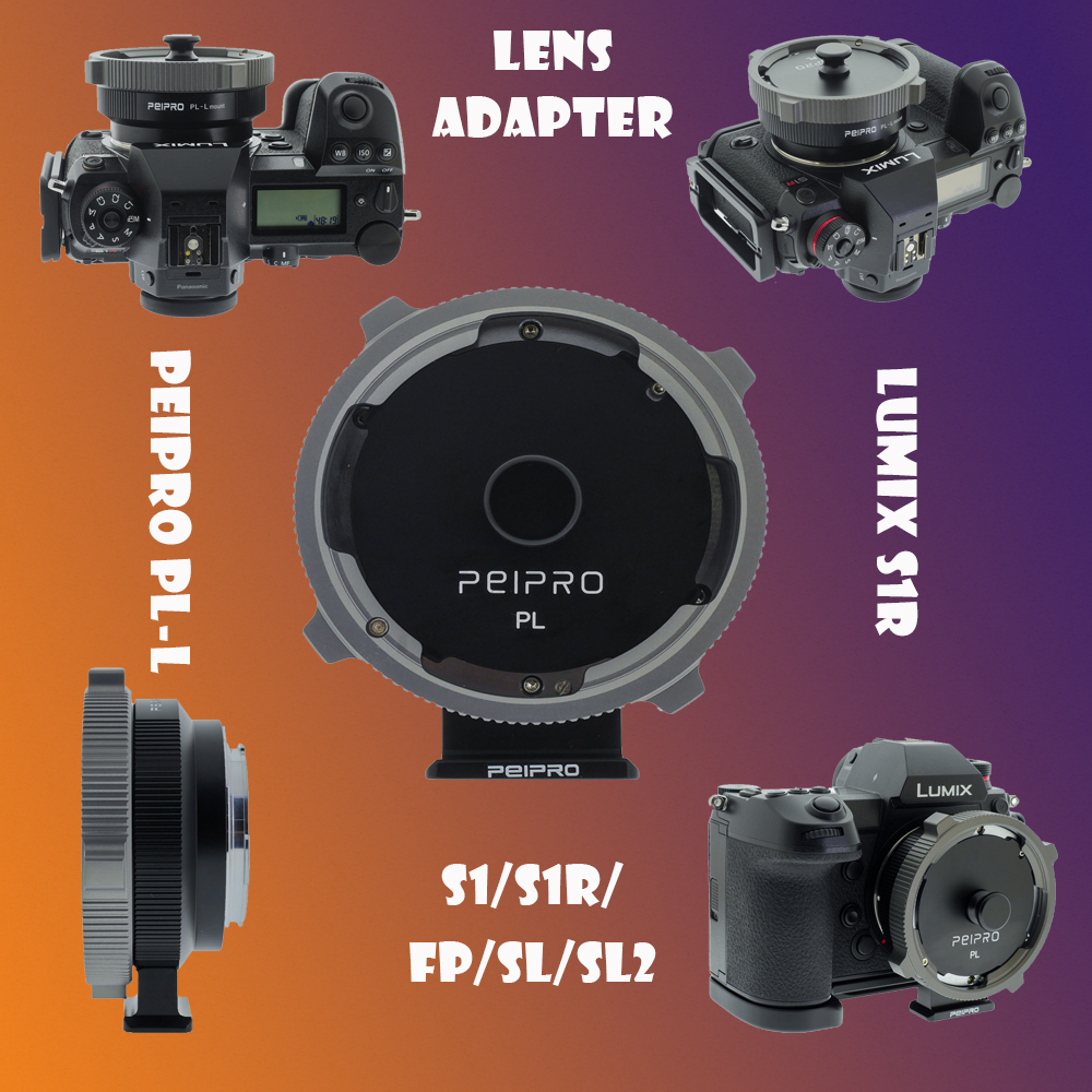 PEIPRO PL-L Lens Adapter PL Lens To S1/S1R/FP/SL/SL2 Auto Focus Adapter Ring Compatible PL Lens To LUMIX S1R L Mount Cameras