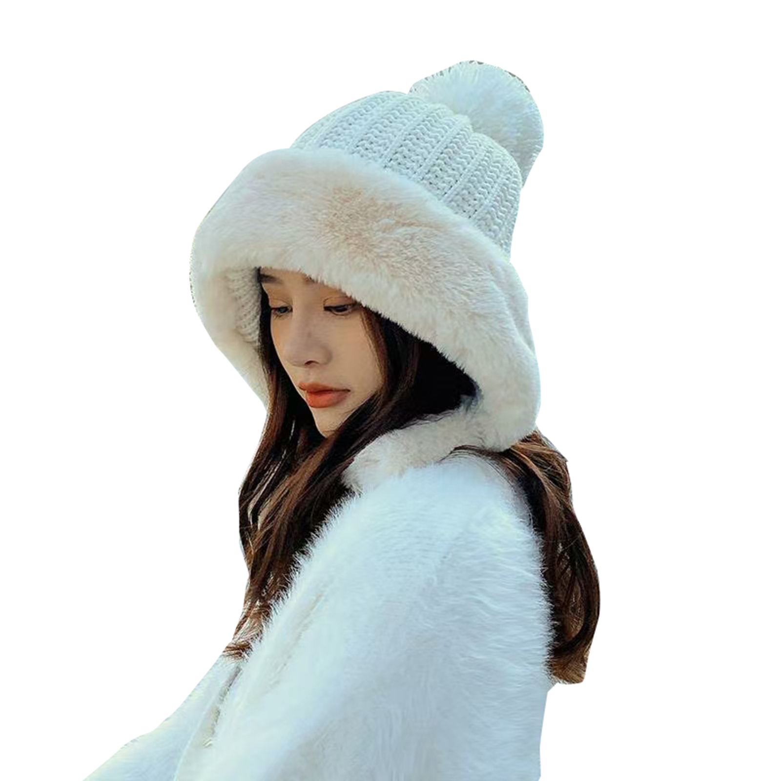 2021 Winter Warm Ear Flap Dual Layered Hats For Women Fashion Beanie Ski Hats Fleece Lined Caps For Women Men Gorras Hombre