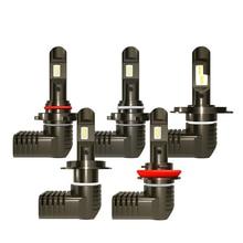 2x P10 LED headlamp 9005 HB3 H10 9006 HB4 H4 9003 H7 H8 H9 H11 Bulbs 50W 7600LM 6000K White Headlight Lamp Led universal