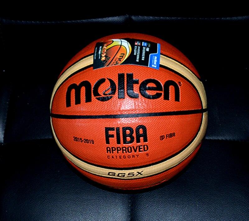 Free Shipping  Molten GG5X GW6X GW7X Indoor Outdoor Men's Basketball Ball PU Materia Size5, 6,7 Basketball Free With Net Bag+ Ne