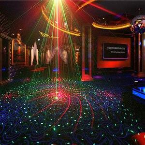 Image 2 - Doppel Farben Strobe Voice Control Laser Disco Party Lichter mit Grafiken Ausrüstung Dj Bühne Lumiere Soundlights