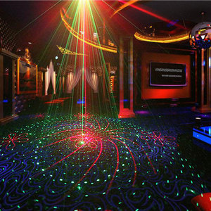 Image 2 - Lumières de partie de Disco de Laser de contrôle vocal de stroboscope de doubles couleurs avec des lumières sonores de lumière détape de Dj déquipement graphique