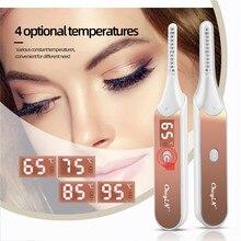 Fast Heating Electric Eyelash Curler Temperature Adjustable Eyelash Curling Roller Natural Make Up Lashes Curl Pen LED Display