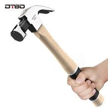 DTBD 16OZ młotek ciesielski z rozcięciem młotek do gwoździ do drewna młotek ze stali wysokowęglowej okrągły młotek ciężki młot udarowy uderzające narzędzia