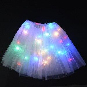 Детский Светильник принцессы для девочек; Светящаяся юбка-пачка; Домашний Свадебный декор; Балетная мини-юбка; Костюм для костюмированной вечеринки; Подарок на день рождения