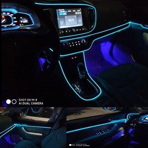 EL провод, флеш-веревка, трубный кабель, Светодиодная лента, гибкая неоновая лампа, светящийся светильник для украшения автомобиля, 8 мм, швейная кромка, Стайлинг автомобиля