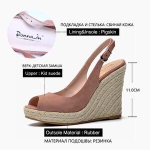 Image 5 - דונה ב פלטפורמת סנדלי טריז נשים אמיתי עור סופר גבוהה עקבים פתוח הבוהן חוף אופנה נשי 2020 קיץ גבירותיי נעליים